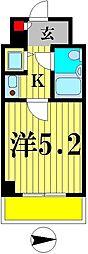 シティハイツ松戸[4階]の間取り