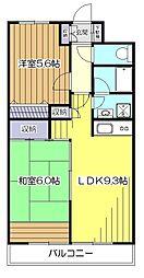 東京都小平市花小金井6丁目の賃貸マンションの間取り