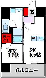 仮)LANDIC 美野島3丁目 9階1Kの間取り