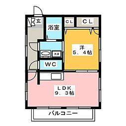 ラ・プランタン店屋町[2階]の間取り