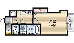 Luxe江坂2 10階1Kの間取り