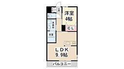 (仮称)K様 アパート[201号室]の間取り