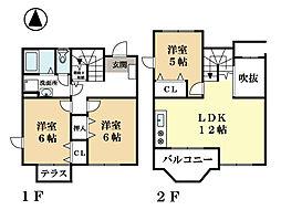 メゾンプレーヌ[2階]の間取り