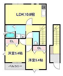 REIGRAN FIRST[2階]の間取り