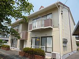 岡山県倉敷市酒津の賃貸アパートの外観