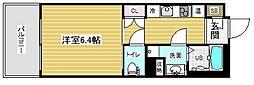アスヴェル神戸元町2 9階1Kの間取り