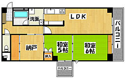 兵庫県神戸市垂水区城が山1丁目の賃貸マンションの間取り