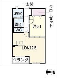 ハートフルマンション ルーナ[3階]の間取り