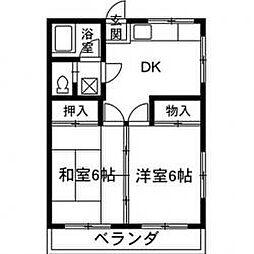 太田ハイツ[303号室]の間取り