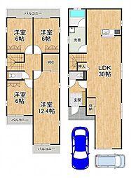 堺市中区東山322-5貸家 1階4LDKの間取り