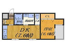 Frame wood[2階]の間取り