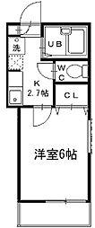 神奈川県横浜市南区大橋町3丁目の賃貸アパートの間取り