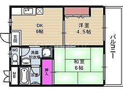 スターハイム松尾[6階]の間取り