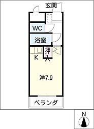 ラ・プチメール[3階]の間取り