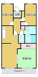 桜館3[4階]の間取り