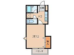 リヴェールコート[2階]の間取り