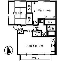 山口県下関市綾羅木本町3丁目の賃貸アパートの間取り