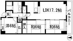 リゾうねの1[4階]の間取り