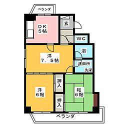 メゾン瑞和[4階]の間取り