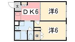 ジョイパレス神田[202号室]の間取り