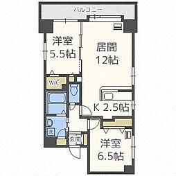 北海道札幌市中央区北五条西18丁目の賃貸マンションの間取り