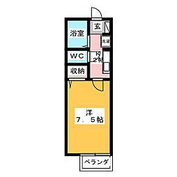 ソシアパートII[2階]の間取り