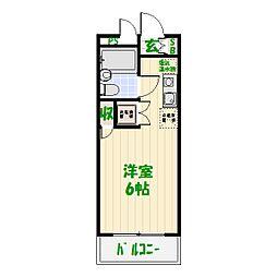 ワコーレお花茶屋[302号室]の間取り