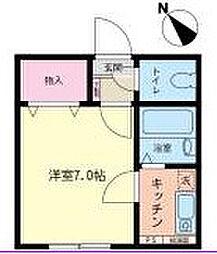 神奈川県相模原市南区相模大野7の賃貸アパートの間取り