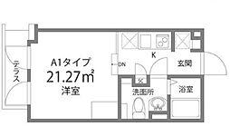 東京都新宿区榎町の賃貸マンションの間取り