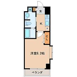 エルスタンザ仙台八幡 2階1Kの間取り