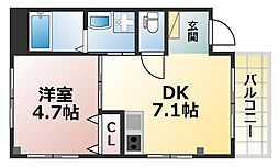 ERCity's nishinada[3階]の間取り