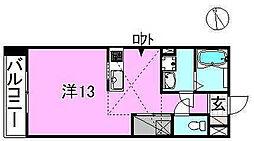 サクラガーデン[203 号室号室]の間取り
