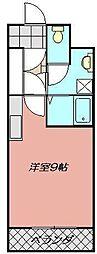 オリエンタル三萩野[103号室]の間取り