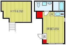 JR京浜東北・根岸線 東十条駅 徒歩6分の賃貸マンション 4階ワンルームの間取り