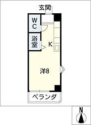 カーサ・キアラ[3階]の間取り