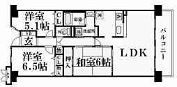 東急ドエルアルス西宮山手[4階]の間取り