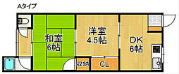 ホライズン黒田[1階]の間取り