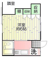 東京都足立区千住4丁目の賃貸アパートの間取り