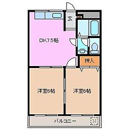 三重県鈴鹿市西条4丁目の賃貸アパートの間取り