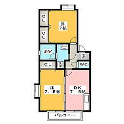 ルーブルI[2階]の間取り