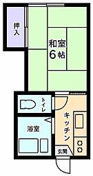 第三中央ハイツ[2階]の間取り