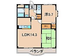 ラフォーレ21[2階]の間取り