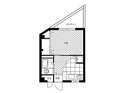 OCTO玉川[4階]の間取り