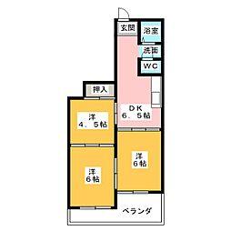 ロイヤルハイツ白子駅[2階]の間取り