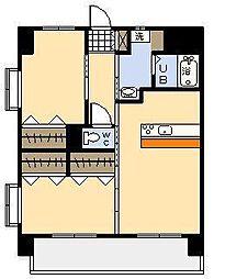 ヒカオプリンスマンション[703号室]の間取り