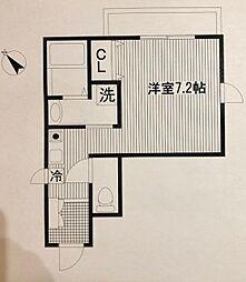 平川共同住宅[301号室]の間取り