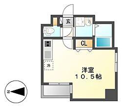 GRANDUKE東別院crea(クレア)[2階]の間取り