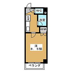 アベニュー高辻[2階]の間取り