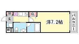 リアンジェ兵庫本町[1003号室]の間取り