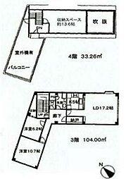 ランドフォレスト西新井[301号室]の間取り